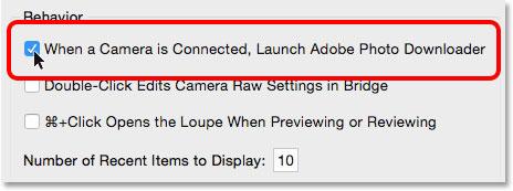 راه اندازی گزینه Adobe Photo Downloader در تنظیمات Bridge CC